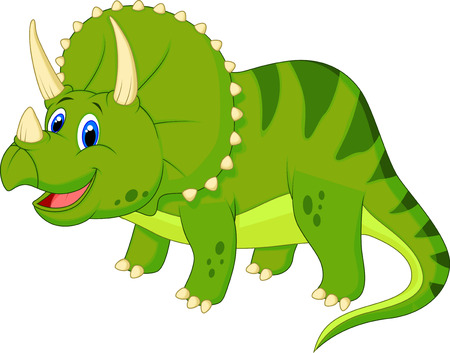 dinosaur cute: Cute triceratops cartoon