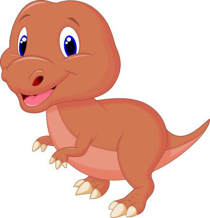 jurassic: Cute baby dinosaur cartoon