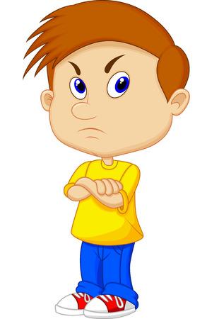 Angry boy cartoon Stock Vector - 23462791