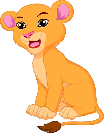 Cute lioness cartoon  Vector