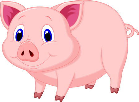 farm animal cartoon: Cute pig cartoon
