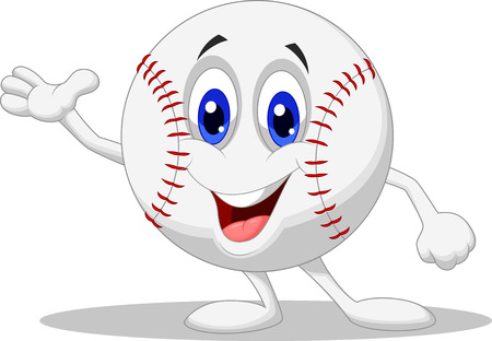 Baseball ball cartoon character  Vector