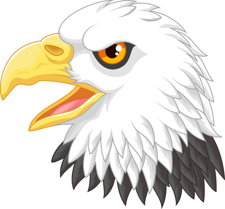 Cartoon Eagle hoofd mascotte Stock Illustratie
