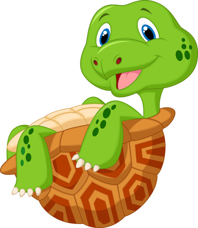 tortue de terre: Bande dessin�e mignonne de tortue Illustration