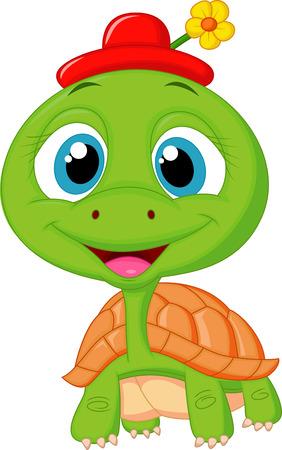 Nette Schildkröte Karikatur Standard-Bild - 23462856