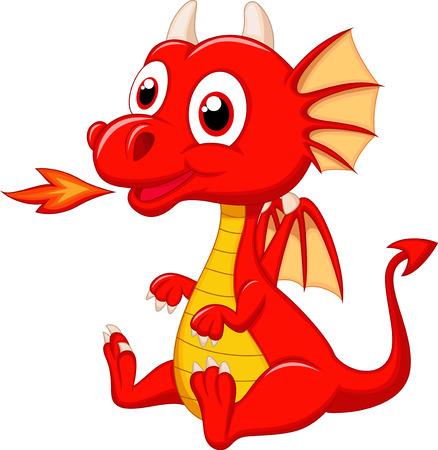 Bebé lindo dragón de dibujos animados Foto de archivo - 23462867