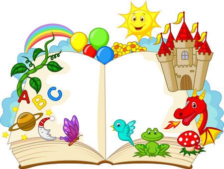 Fantasie Buchkarikaturentwurf Standard-Bild - 23462865