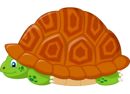 disappear: Turtle cartoon hiding in his shell