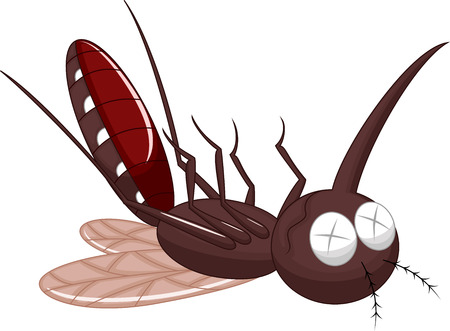 prick: Death mosquito cartoon  Illustration