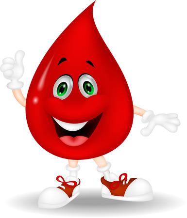 blood drop: Blood cartoon giving a thumb up