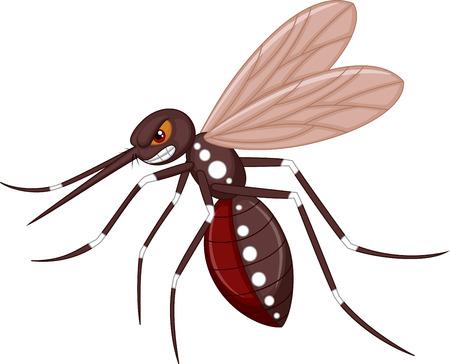 plague: Angry mosquito cartoon