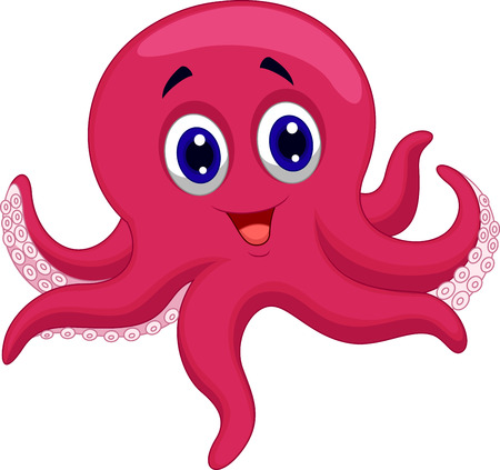 octopus: Historieta del pulpo Vectores