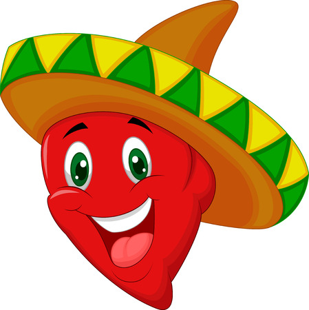 chili sauce: Cartoon Habanero pepper