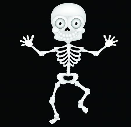 skeleton cartoon: Funny skeleton cartoon