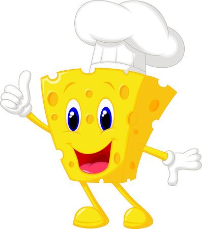 swiss cheese: Cheese chef cartoon  Illustration
