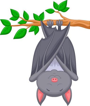 cartoon bat: Cartoon bat sleeping