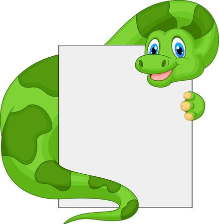 brontosaurus: Cute dinosaur cartoon holding blank sign  Illustration