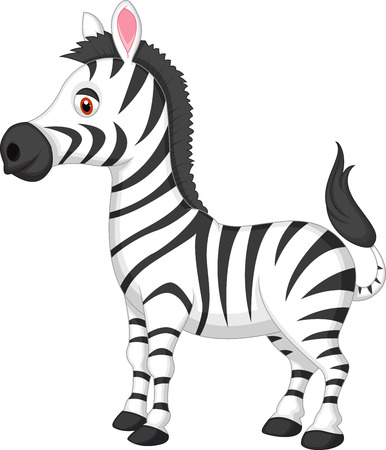 Leuke cartoon zebra Stock Illustratie