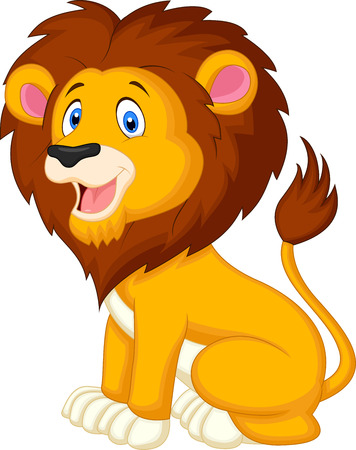 Cute lion cartoon Stock Vector - 23826024