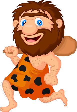 caveman: Divertidos dibujos animados cavern�cola Vectores