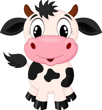 動物: 可愛的卡通牛