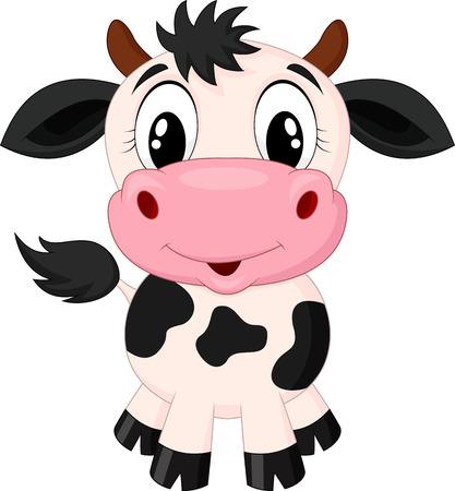 Simpatico cartone animato della mucca Archivio Fotografico - 23825855