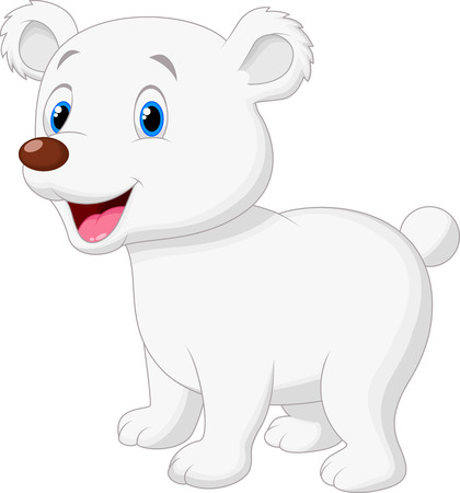 polar bear: Cute polar bear cartoon