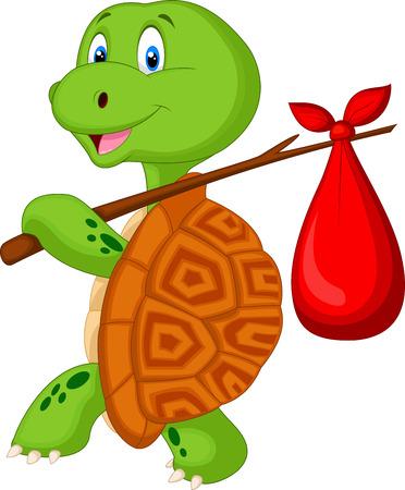 Schildpad cartoon reizende