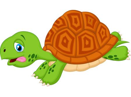 green turtle: Cute turtle cartoon running