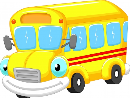 School bus cartoon  Stock Vector - 24336351