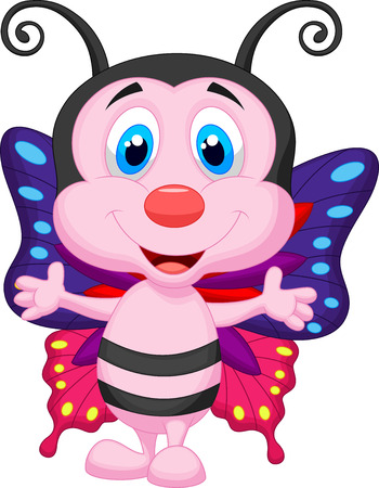 lovable: Cute butterfly cartoon