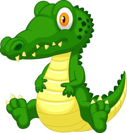cocodrilo: Historieta linda del cocodrilo Vectores