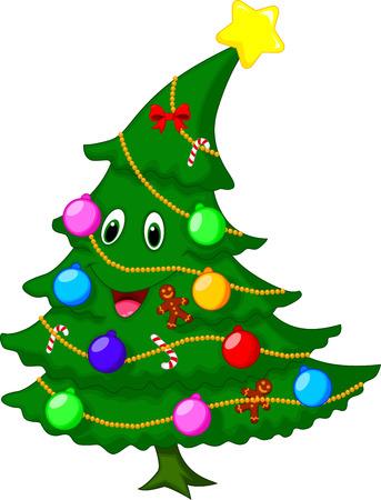 smile christmas decorations: Christmas tree cartoon character
