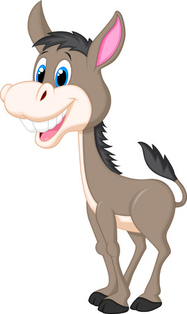 ears donkey: Cute donkey cartoon