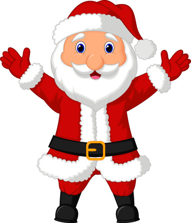 twenty fifth: Santa cartoon waving  Illustration