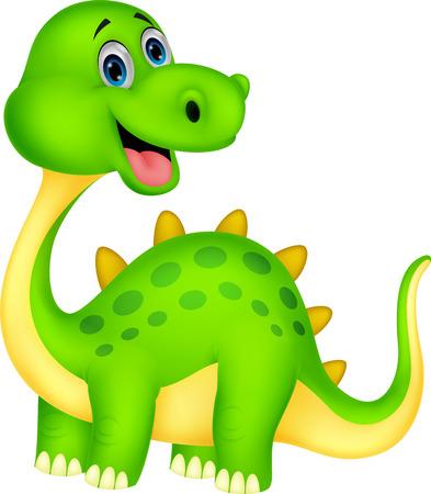Leuke cartoon dinosaurus