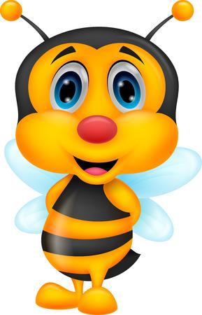 pollinating: Cute bee cartoon  Illustration