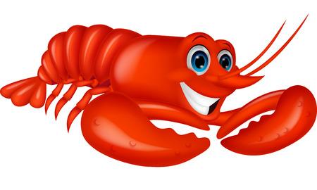 Cute lobster cartoon  Stock Vector - 24469235