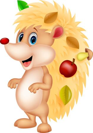 pygmy: Cute hedgehog cartoon