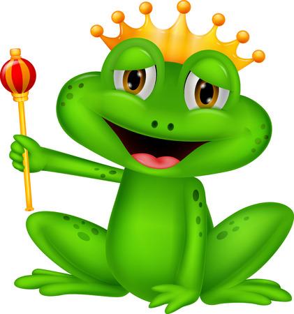 funny frog: Frog king cartoon  Illustration