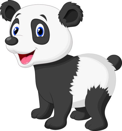 pandabeer: Cute panda bear cartoon