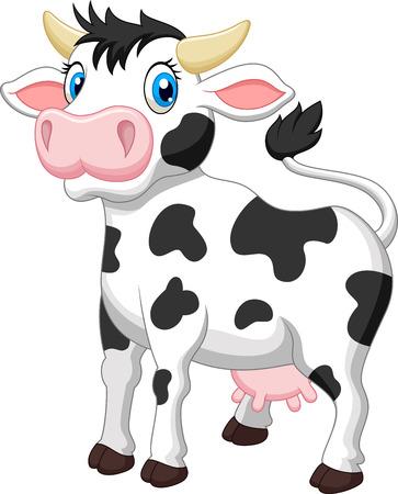 laticínio: Bonito dos desenhos animados da vaca Ilustra��o