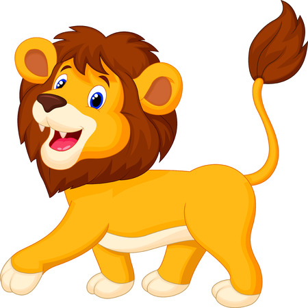 panthera: Lion cartoon walking