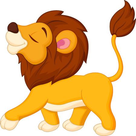 panthera: Lion cartone animato a piedi