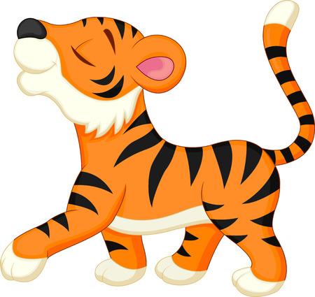 Bande dessinée mignonne de tigre Banque d'images - 27166032