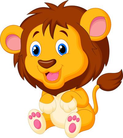 Jolie jeune bande dessinée de tigre Vecteurs