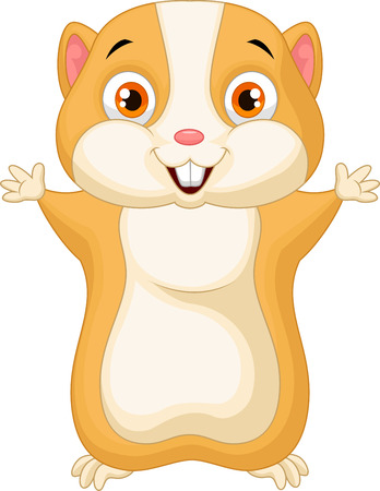 hamster: Cute hamster cartoon