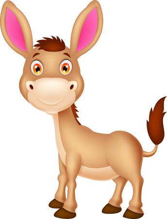 donkeys: Cute donkey cartoon