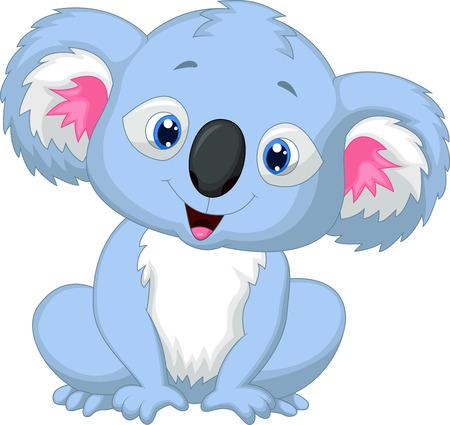 coala: De dibujos animados lindo koala