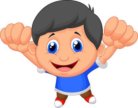 boy smiling: Boy cartoon posing